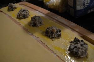 Crab Portobello Ravioli Filling