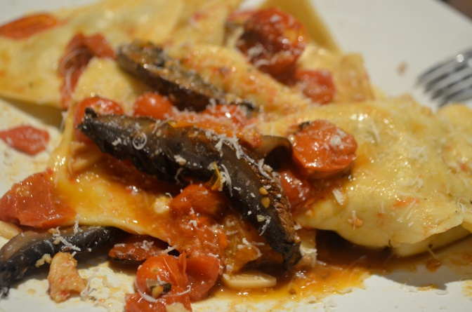 Crab and Portobello Ravioli