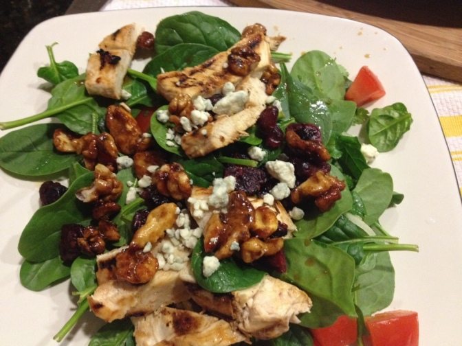 Long Day Spinach and Chicken Salad